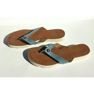 64fc9c436ead Coach Shelly Blue Strap Sandal Flip Flop 8.5B